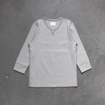 ミラノリブコットン7分袖カットソー/GY