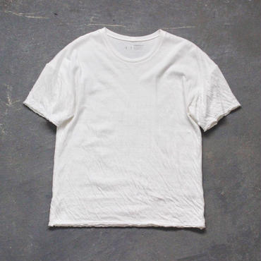 dual-layered fabric tshirt/white