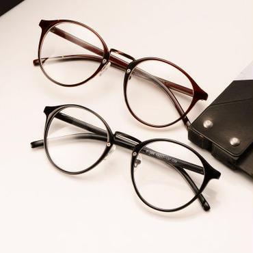 目元強調でコーデが引き締まるボストンメガネ/黒/茶色/レオパード柄