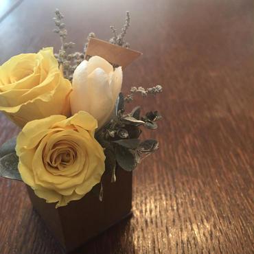 *natural Preserved Flowers Arrangement mini* flowers cake*MJ053