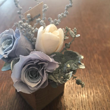 *natural Preserved Flowers Arrangement mini* flowers cake*MJ055