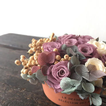 *Natural preserved flowers arrangement*MJ012