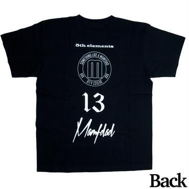 【BLK】mamfdad short logo T-shirts