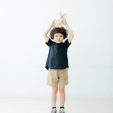 【nunuforme】 ブロードプレーンブラウス(Black) M(105-115cm)