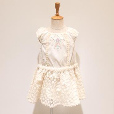 【SALE】Souris レースジャンパースカート (502/アイボリー) 90-130cm