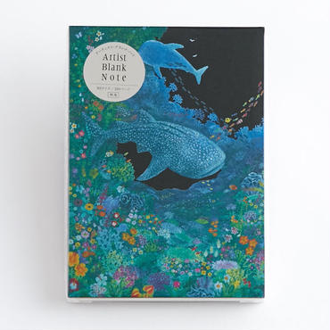 (NEW!) ARTIST BLANK NOTE-Whale Shark