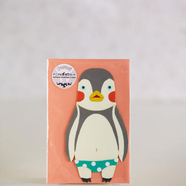 ANIMAL PORORI CARD-PENGUIN