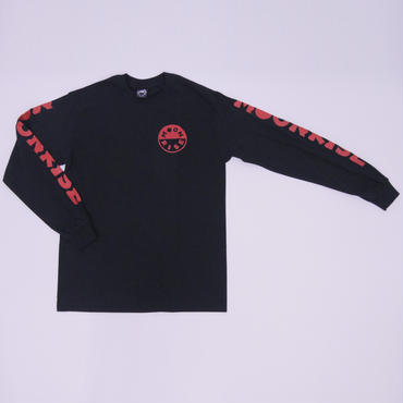 MOONRISE RED LOGO LONG SLEEVE  T-SHIRT