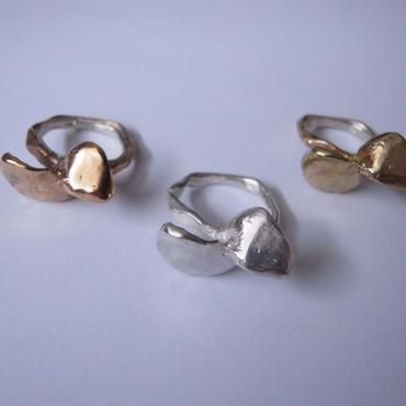 Ring ALI (羽) -bronze, silver, brass #E66