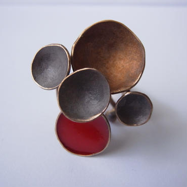Ring -bronze, enamel  #001