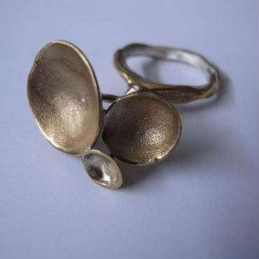 Ring -brass, enamel #005