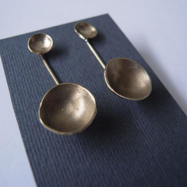 Pierced earrings -brass  #009-1