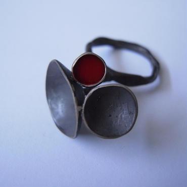 Ring -silver, enamel  #003