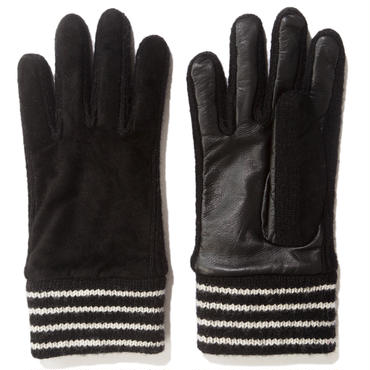 BAL / TOUCH SCREEN LEATHER GLOVES - BLACK