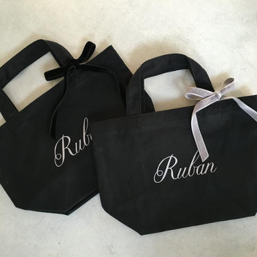 Ruban キャンバストートバッグ S (ベロアリボン)