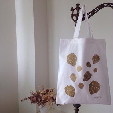 いちごのバッグ(ゴールド)