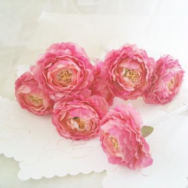 フルール ラナンキュラス リボン(ピンク)