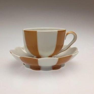 【アウガルテン】メロン(ホフマン)オレンジ モカカップ&ソーサー