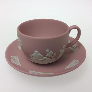 【ウェッジウッド】 ジャスパー ピンク ティーカップ&ソーサー
