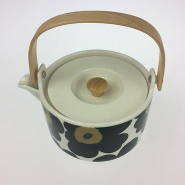 【マリメッコ】ウニッコ ティーポット ホワイト × ブラック
