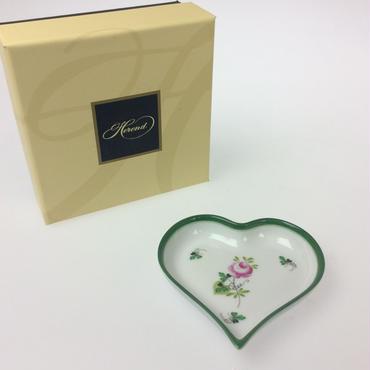 【ヘレンド】ウィーンのバラ ハート型小皿 7703