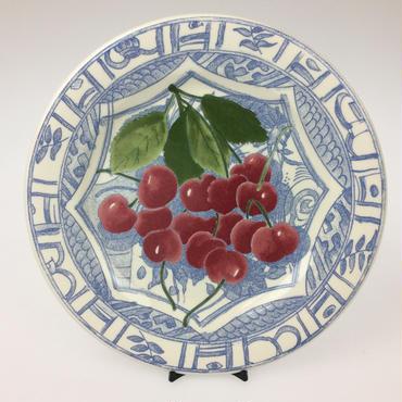 【ジアン】オワゾブルーフルーツ 22cmデザートプレート