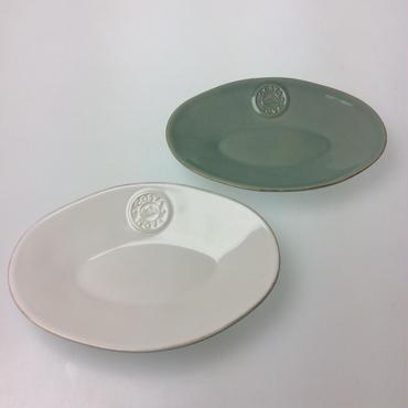 【コスタノバ】ノバ 20cmオーバルプレート ホワイト/ターコイズ