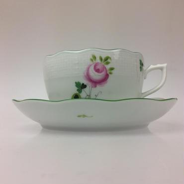 【ヘレンド】 ウィーンのバラ ティーカップ&ソーサー724