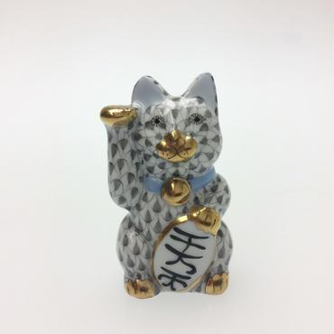 【ヘレンド】人形 VHG 招き猫千万両(小)グレー 15579