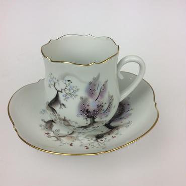 【マイセン】アーモンドの木 コーヒーカップ&ソーサー
