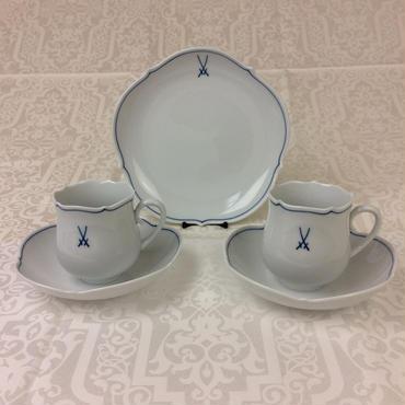 【福 袋】マイセン 3点セット(プレート・コーヒーカップ&ソーサー)