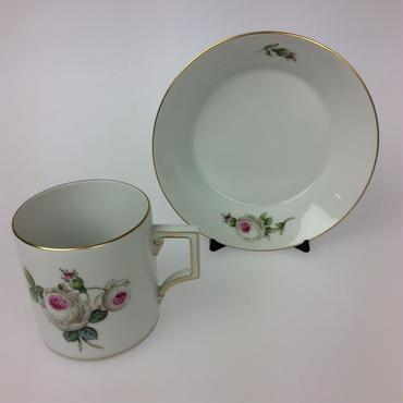 【マイセン】ホワイトローズ コーヒーカップ&ソーサー 029510/55895