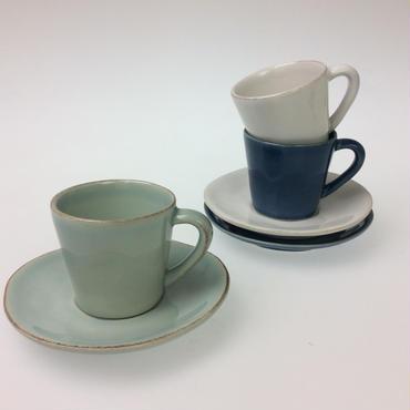 【コスタノバ】ノバ コーヒーカップ&ソーサー ホワイト/ターコイズ/デニム