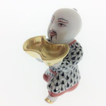 【ヘレンド】人形 VHN オキュウシサン ブラック 05653-0-00