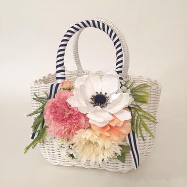 Flower Bag White M     【White Anemone】