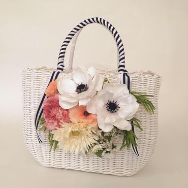 Flower Bag White L     【White Anemone 】