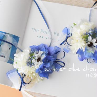 summer   blueチョーカー