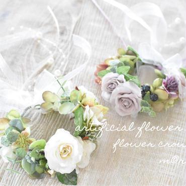 【限定】アンティークローズ花かんむり
