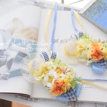 【受注制作】Summer  シェル  チョーカー