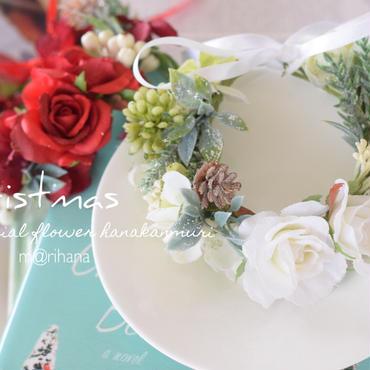 クリスマスローズ花かんむり