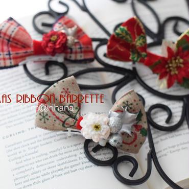 【ご予約】クリスマスリBIGリボンバレッタ