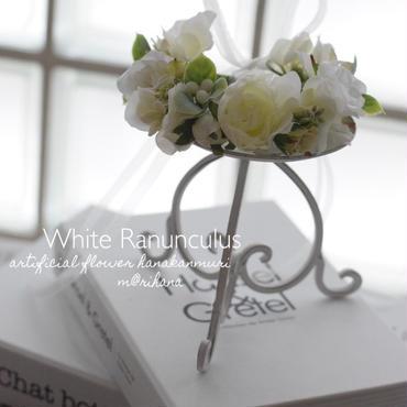 【受注製作】ピュアホワイト・花かんむり