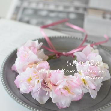 春のさくら花かんむり