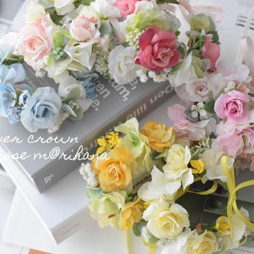 【受注製作】定番!ローズ花かんむり