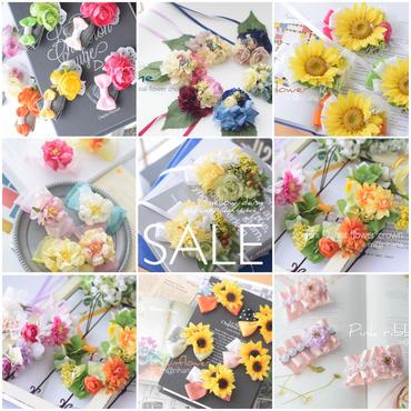 【お買い得セット】♡♡麦わら帽子 &バレッタ&花かんむりセット♡♡