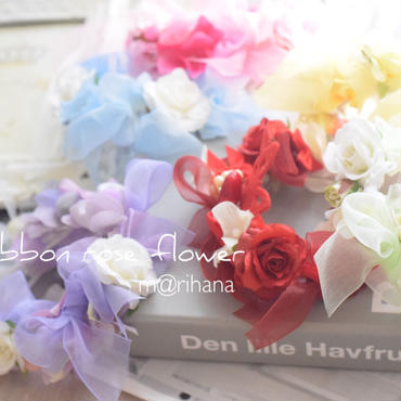 エアリーリボン&ローズ花かんむり