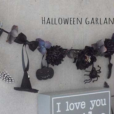【受注制作】Halloweenガーランド・ブラック