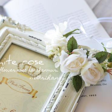 ホワイトローズ花かんむり・ワンちゃん用