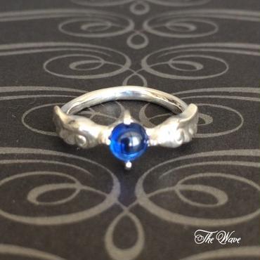 Angel ブルースピネルのリング - silver -