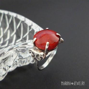 赤珊瑚のリング - silver -